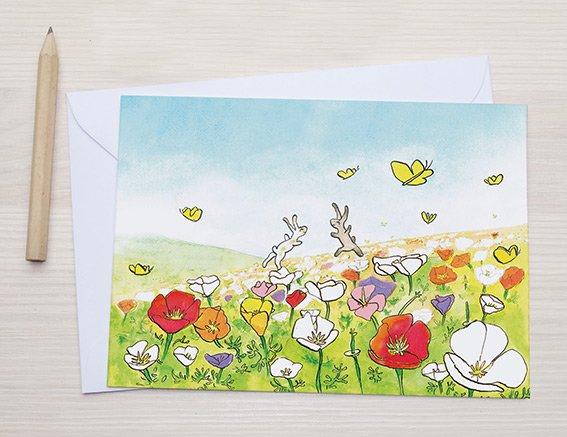bloemen tekening illustratie kaart